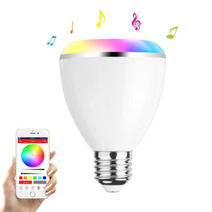 LED Bulb Bluetooth Speaker -E27 Base 6W Color Changing Smart Light Speaker Bulb Wireless Dimmable Multicolored Lamp