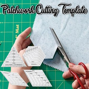 patchwork şablonuna # 35 için Cetvel DIY Dikiş Cutting Tools patchwork Kesme Şablon Akrilik Cetvel