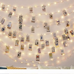 Wedding invitations Photo Clip USB LED String Lights Fairy Lights Outdoor Battery Operated Garland Christmas Decoration Party Wedding