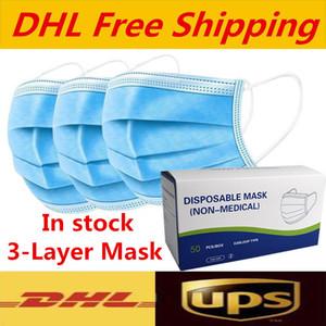 Trasporto libero maschere monouso Viso spesse maschere a 3 strati con Earloops per Salon Uso Domestico Maschera consegna veloce confortevole Super