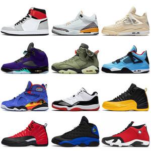 zapatos zapatillas nike air retro jordan 1 1s off white sail 4 4s travis scott 6 6s Zapatillas de baloncesto para hombre y mujer Jumpman 5 Alternate Grape 5s 12s Flint 13