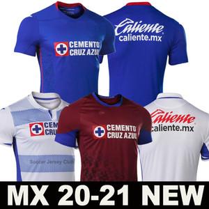 20 21 Cruz Azul ev futbol forması 2020-2021 deplasmanda futbol forması Liga MX üçüncü Erkekler + Çocuk kiti camiseta de fútbol