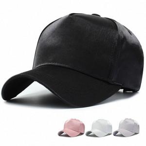 Erkekler 5VAX # için Saten Beyzbol şapkası İpek Saten CoupleTrendy Baba Şapka Erkek Şapka Kadınlar Hip Hop Caps Snapback Şapka Smooth
