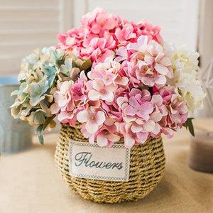 SOLEDI de la main Simulé Hydrangea Office Party de bureau unique imitation Hydrangea décoration cadeau de mariage 6 chefs