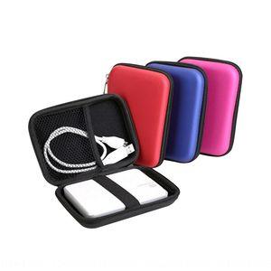 Data cable headset Bluetooth headphones storage box 2.5 inch mobile power storage bag EVA hard case Pu bag