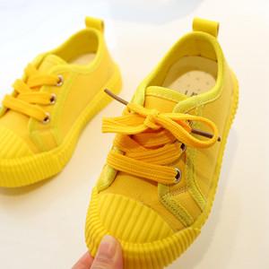 Diseñador de zapatos de niño de mesa Niños Nuevos color sólido de los zapatos ocasionales Niños y niñas de diseño en las zapatillas de deporte al aire libre respirable-zapato zapatos de lona de los muchachos