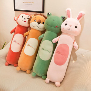 1pcs Pillow New Forest Animals Plush Doll Cylinder Down Cotton Pillow Toy Doll 55cm Penguin Stuffed Animals Plush Toys Pillow MX200716