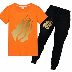 Kinder-T-Shirts 2pcs Cotton Tees Prestonplayz Sommer-Baby-T-Shirt Kurzarm Kinder Mädchen Kleidung Tops Unspeakable tVdK #