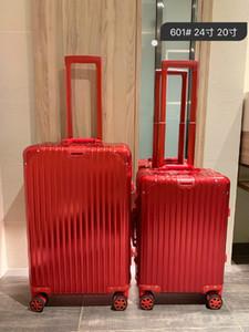Alta qualidade de PC anti-desgaste costumes material de bloqueio TSA espessada liga de alumínio canto mala grande capacidade de caso de ar da caixa de viagens 20 polegadas 1