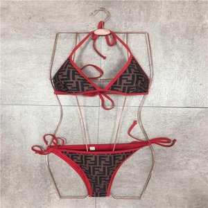 2020 женщин дизайнер бикини Новых писем Девушка Swimsuits Мода Узелок Купальники талии бинты Трехточечный Купальник Sexy Backless Vest