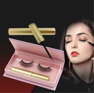 Magnetic eyeliner liquid magnetic false eyelashes 5 magnet eyelashes set 3D magnetic eyelashes