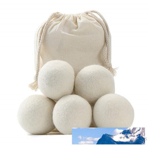 New Wool Dryer Balls Premium Reusable Natural Fabric Softener 2.75inch 7cm Static Reduces Helps Dry Clothes in Laundry Quicker SN2646