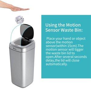 Малая кухонная техника 35L Умный датчик движения Автоматическая Trash Can Waste Bin серебра Пищевые отходы измельчителей