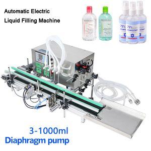 3-1000ml completa automática desktop CNC líquido máquina de enchimento Com transportador para Bottle Perfume Máquina de enchimento de água que faz máquinas