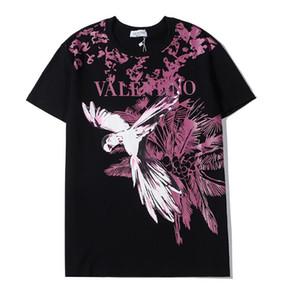 hot sale fashion Men's Baggy Cotton White T-Shirt Unisex Size S-2Xl Short Sleeve Shirts Tops 2020 Animal print best gift