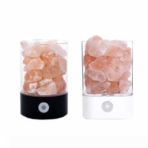 Night Lights Kristal Tuz Lambası Doğal Hava Temizleme Dim Pembe Salt Rock renk gece lambası değiştirme