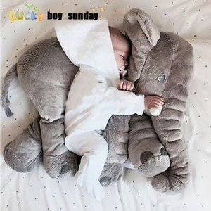Lucky Boy domingo 60 centímetros Elephant Plush Toy bonito Tamanho Big Stuffed Toy Crianças Plush Elephant Pillow Namorada Crianças Presente de Natal MX200716