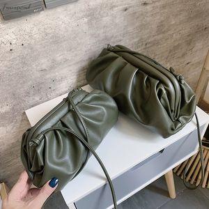 Women Simple Dumplings Messenger Bag Designer 2020 New Fashion Cloud Female Crossbody Shoulder Bag Tide Handbag Clutch Bag