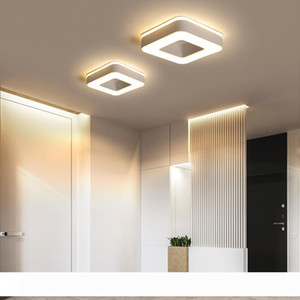 Modern LED Ceiling Light For Holly aisle corridor Bedroom Black or White Square Round Triangle led Ceiling Lamp fixture hanglamp