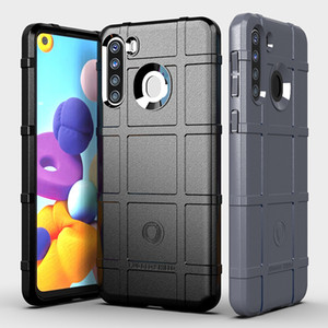 Soft Silicone Rugged Shield Case Armor Hybrid Matte Cover Anti Knock Shockproof Cover for Samsung A21 European Version