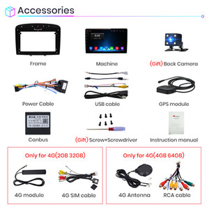Freeshipping V1 2G+32G Android 9.0 For Peugeot 408 308 308S 2012 - 2020 Car Radio Multimedia Video Player Navigation GPS 2 din dvd
