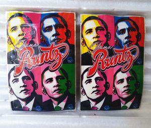Nuovo Obama Runtz Runt Runty Bag Riceable Zipper Mylar odore Borsa a prova di odore Edibles Packaging Stand Up 3.5 Sacchetto di fiore HEB secco