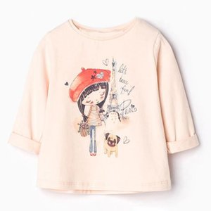 Standand Full Sleeve T-shirt girls baby kids tops High Quality cloth for girls children blouse Christmas gift toddler costume Made In China
