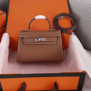 Luxury Handbags Purses Shoulder Bags Style Mini Strap Crossbody Tote with High Quality Genuine Leather Handbags Freeshipping 20cm