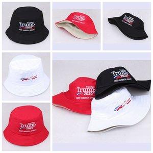 Donald Trump Bucket Hat Embroidery 2020 America Presidential Election Hat Fisherman Hat Keep America Great Outdoor Ball Cap LJJP148