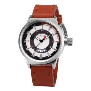 CH21 Business belt calendar hot quartz watch for men