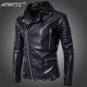 ! 2020 New Style Fashion Men Locomotive Leather Coat Men'S Wear Leather Jacket Coat A1-3-B003