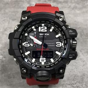 Multi-função à prova de choque pulseira de borracha do esporte G Assista Dial Grande relógios de luxo de pulso Relógios GWG1000 Digital LED de Homens 2019 Atacado Assista