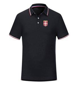 Sırbistan Futbol Takımı Rahat tişört Polyester Casual Kuru Slim Fit Örgü Golf Polo Promosyon Futbol Polo İçin Erkekler