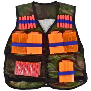 NERF Elite calor delgada camuflaje chaleco negro Accesorio Equipo Vestvest suave bala de pistola accesorios de equipo táctico