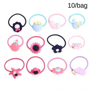 10PCs web celebrity hipster hair rope for girls and children without hurting hair rope rubber band Simple resin female rubber band