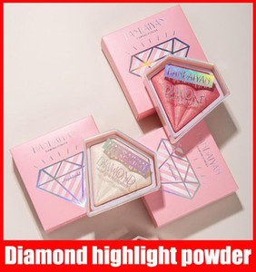 Handaiyan Face Diamond Crystaling Highlighting Proced Powder Compact Brightening Powder Shimmer Compledion Bronzers 형광펜 5 색