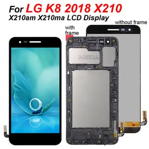 100% di prova per 5,0 pollici LG K8 2018 Display Touch Screen LCD di ricambio X210 Panel Assembly Digitizer per display LCD X210am X210ma