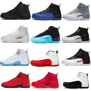 Nike Air Max Retro Jordan Shoes Basketballschuhe Grau FIBA 12s 12 NakeskinJordanienRetro Herren-Reverse-Taxi-Spielball Königs GYM RED Französisch Blue Cherry Sneakers