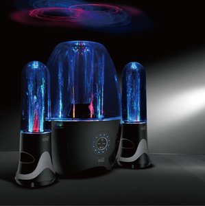 Фабрика продажа Оригинал Атака фонтан воды театр Bluetooth Speaker, 2,1 Канал вода Танцы спикер с многоцветным LED светом сабвуфер