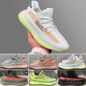 V2 Glow Lundmark Non-Reflective Running Shoes Kanye West Men Women Black Static Antlia Triple White Synth Sport Sneaker 5-13 MIE3V