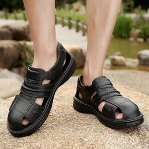 Eillysevens Mens Casual Praia Shoes Buraco vadeando Shoes Grosso Soled não escorregar a céu aberto #SH cSsg #