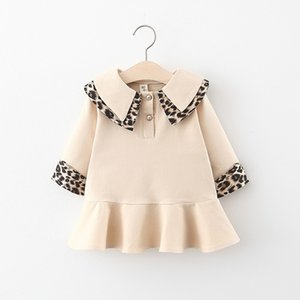 Baby Girl Dress 2020 Autumn Winter Leopard Print Long Sleeve Toddler Party Pageant Princess Dress Kids Clothes