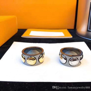 New titanium steel material two-color optional designer ring luxury designer jewelry women rings