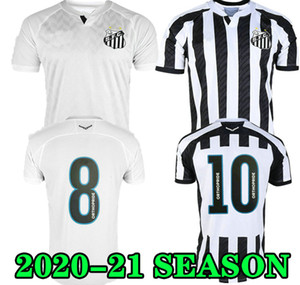 Soteldo 20 21 Santos Jersey Home white Soccer ALISON Gustavo H. Pato Sanchez Cueva 2020 2021 SANTOS away football shirt Rodrygo Bryan