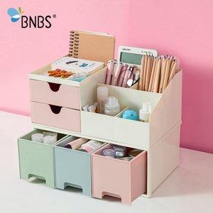 Bnbs maquillaje organizador de escritorio Caja de almacenamiento recipiente para cosméticos caja de plástico para la joyería de escritorio organizador del cajón