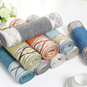 Nordic Cotton and Linen Table Runner Modern Geometric Pattern Table Cloth Runner European Table Runners for Wedding Decoration Y200421