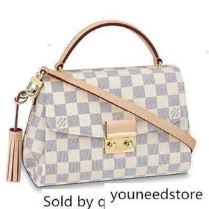 41581 Designer N Croisette Women White Handbags Top Handles Boston Cross Body Messenger Shoulder Bags ew