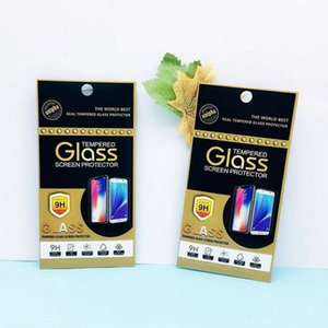 Empty Retail Package Box Pack Bag Premium Tempered Glass 9H Screen Protector for iphone XS Max XR X 8 Galaxy S7 Egde Huawei