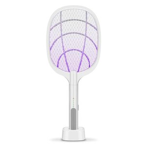 Bateria removível elétrica recarregável Swatter Pest Control Insect Bug Bat Wasp Zapper Fly Mosquito assassino com LED Lighting DHA134