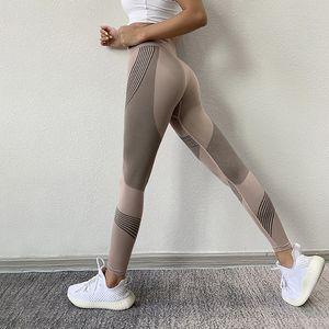 2020 Le nuove donne Leggings vita alta Peach Hips Palestra Leggings ad asciugatura rapida pantaloni Sport Stretch Fitness
